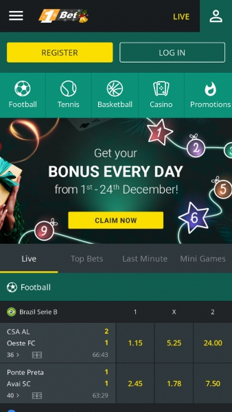 1bet mobile